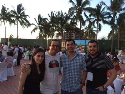La Dra. Alejandra Pérez, el Dr. Pedro Ortega, el Dr. Milton Vázquez y el Dr. Jorge Robledo
